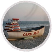 Cape May Calm Round Beach Towel