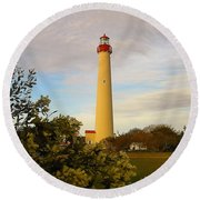 Cape May Lighthouse In Spring Round Beach Towel