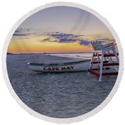 Cape May Mornings Round Beach Towel