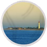 Cape May New Jersey Round Beach Towel