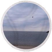 Cape May On A Cloudy Day Round Beach Towel