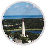 Cape May Point Lighthouse Round Beach Towel