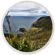 Cape Reinga North Island New Zealand Round Beach Towel