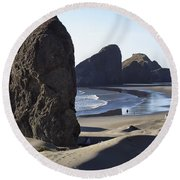 Cape Sebastian - Hunters Cove Area- Oregon Coast Round Beach Towel