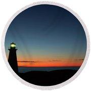 Cape Spear Sunrise Round Beach Towel