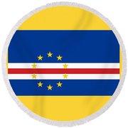 Cape Verde Flag Round Beach Towel