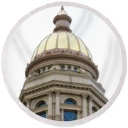 Capital Building Dome Cheyenne Wyoming Vertical 01 Round Beach Towel