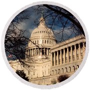 Capitol Building Round Beach Towel