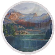 Capitol Peak Rocky Mountains Round Beach Towel