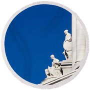 Capitol Statues - Madison Wisconsin-1 Round Beach Towel