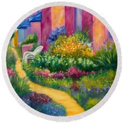 Capitola Dreaming Too Round Beach Towel