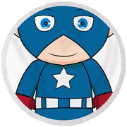 Captain America Round Beach Towel