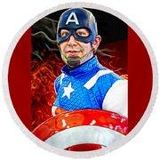Captain America Super Hero Round Beach Towel