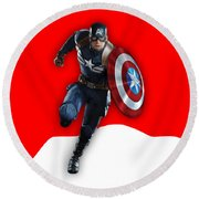 Captain Collection Round Beach Towel