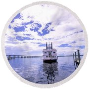 Captain Jp's Paddle Boat Round Beach Towel