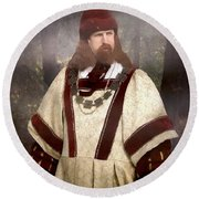 Captain Of The Guild Of St. Maurice Round Beach Towel