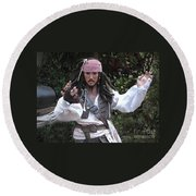 Captain Sparrow Round Beach Towel