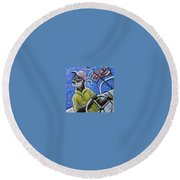 Captin Percy Round Beach Towel