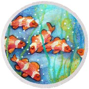 Captivating Clown Fish Round Beach Towel
