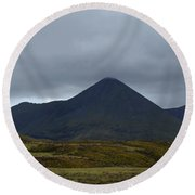 Captivating View Of The Mountains In Cuillen Hills  Round Beach Towel