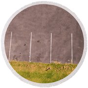 Car Parking Bays Round Beach Towel
