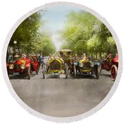 Car - Race - Hold On To Your Hats 1915 Round Beach Towel