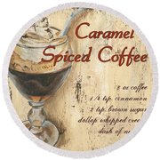 Caramel Spiced Coffee Round Beach Towel
