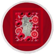 Carazon2 By Beth Valory And Julia Woodman Round Beach Towel