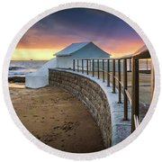 Carcavelosbeach - Portugal Round Beach Towel