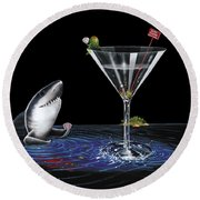 Card Shark Round Beach Towel