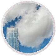 Cardiff Bay Water Tower Round Beach Towel