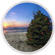 Cardiff Christmas Tree Round Beach Towel
