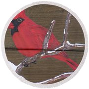 Cardinal 2 Round Beach Towel