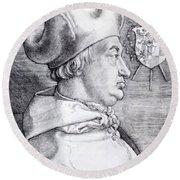 Cardinal Albrecht Of Brandenburg 1523 Round Beach Towel