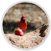 Cardinal Rule Round Beach Towel