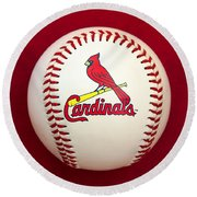 Cardinals Round Beach Towel