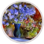Caress Of Spring - Impressionism Round Beach Towel