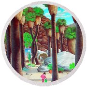 Caretaker Round Beach Towel