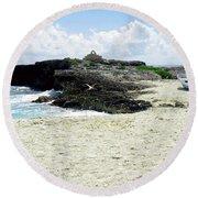 Caribbean Beach Scenic Round Beach Towel