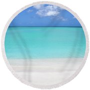 Caribbean Blues Round Beach Towel