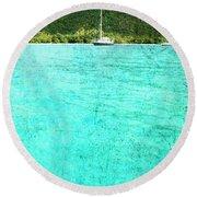 Caribbean Cruising Round Beach Towel