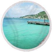 Caribbean Dream Round Beach Towel