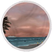 Caribbean Dreams Round Beach Towel