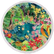 Caribbean Jungle Round Beach Towel