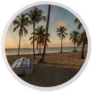 Caribbean Life Round Beach Towel