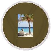Caribbean Standards Round Beach Towel