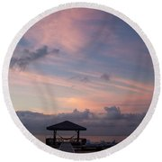 Caribbean Sunrise Round Beach Towel