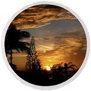 Caribbean Sunset Round Beach Towel
