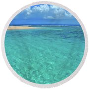 Caribbean Water Round Beach Towel by Scott Mahon