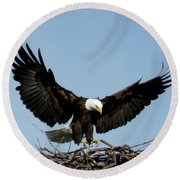 Cape Vincent Eagle Round Beach Towel